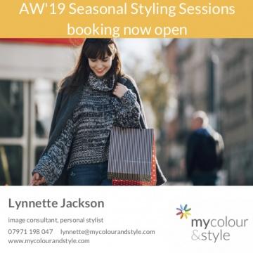 Autumn winter styling, autumn fashion, seasonal style, lady shopping