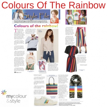 Rainbow colours, how to wear bright colours