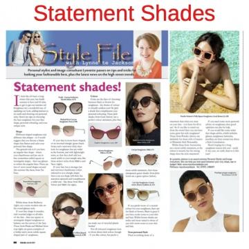 Statement shades, sunglasses, eye wear style