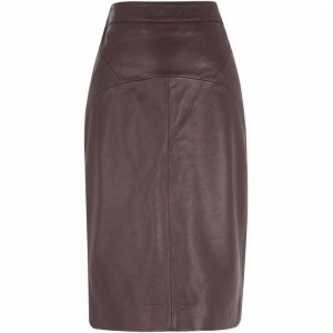 AW trends, leather skirt