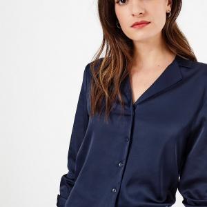Blue satin blouse Marks & Spencer