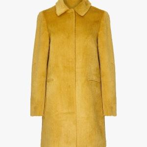 Yellow Yumi Moleskin Brushed Coat
