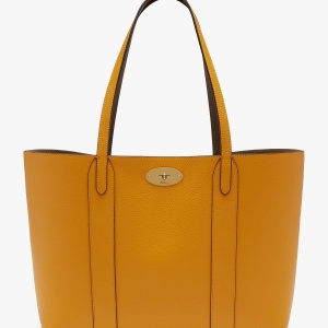 Yellow Mulberry Bayswater Small Classic Grain Leather Tote Bag