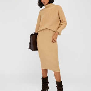 Beige MALI KNITTED PENCIL SKIRT and jumper, Monsoon