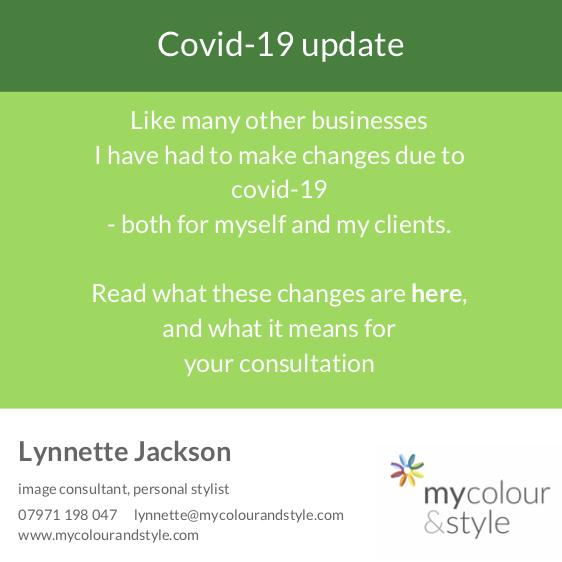 covid-19 colour consultation, covid-19 image consultant, covid-19 personal stylist