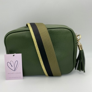 Green accessories and bags